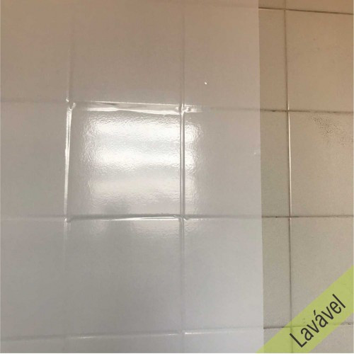 Adesivo Liso Branco Lavável