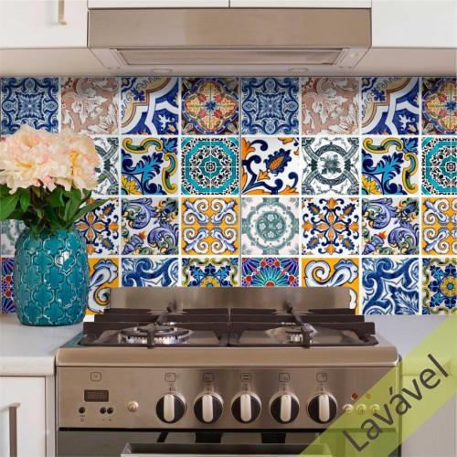 Adesivo Azulejo Ladrilho Artesanal